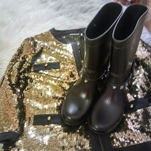 Shoes - New Motorcycle Style Rainboots